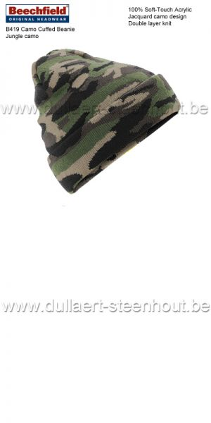 Beechfield - B419 Camo Cuffed Beanie /  jungle camo
