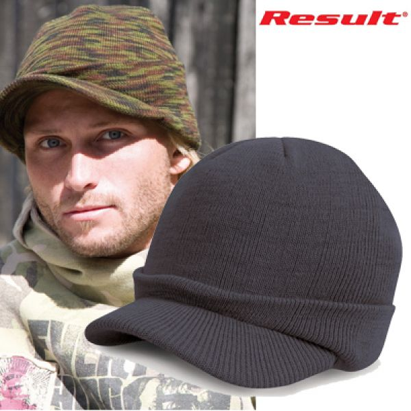 Result - Esco Army Knitted Hat Olive Mash