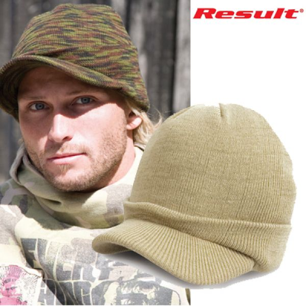 Result - Esco Army Knitted Hat Khaki