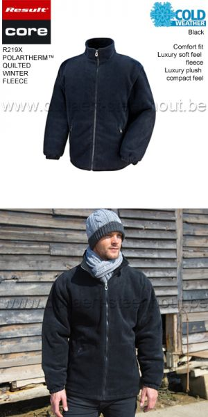 Result Core - Polartherm™ Quilted Winter Fleece - noir