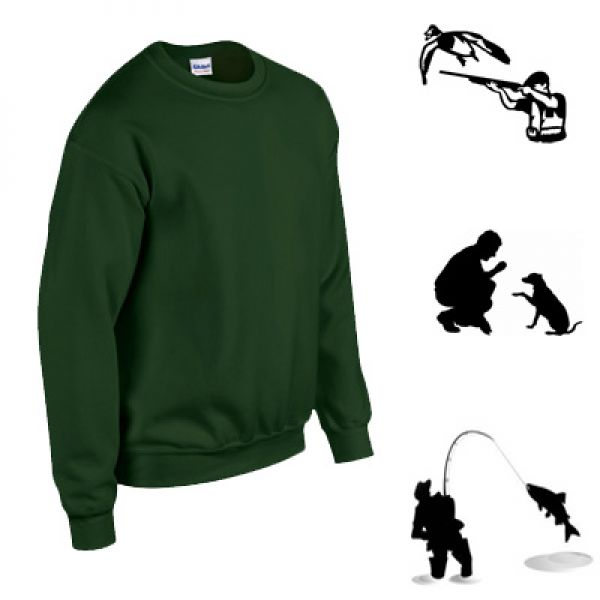 Gildan pull militaire Forest green