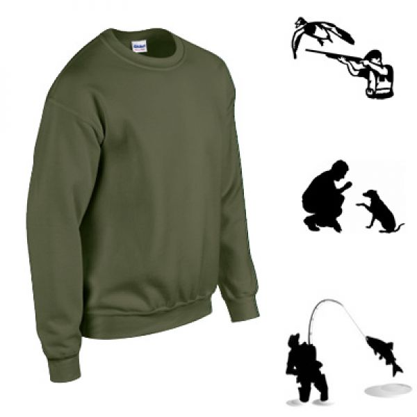 Gildan pull militaire Army green