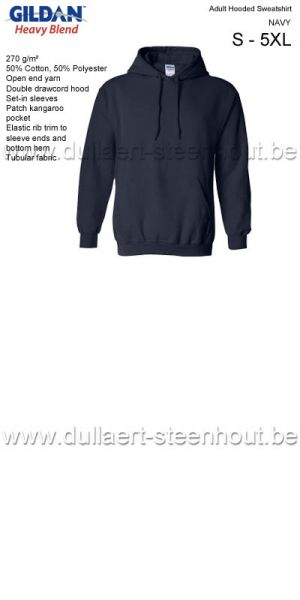 Sweat Hooded GILDAN 18500 Bleu marine