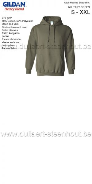 GILDAN - Sweat Hooded 18500 army green