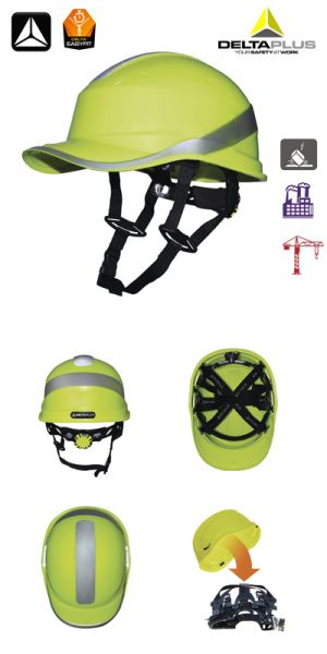 Deltaplus - Casque de chantier - DIAMOND V UP- jaune