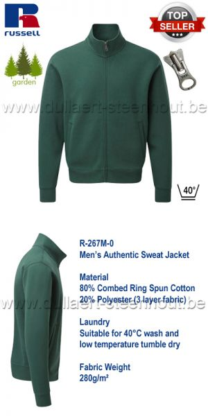 Russell - Men's Authentic Sweat Jacket - vert
