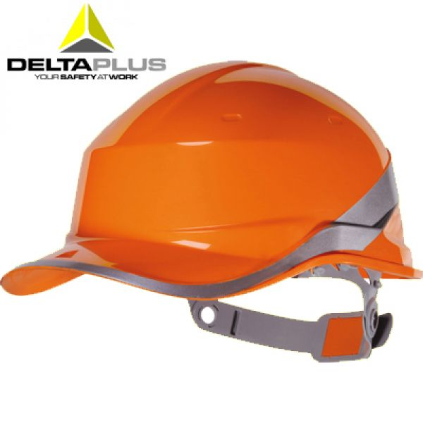 Deltaplus  Casque de chantier forme casquette BASEBALL ORANGE