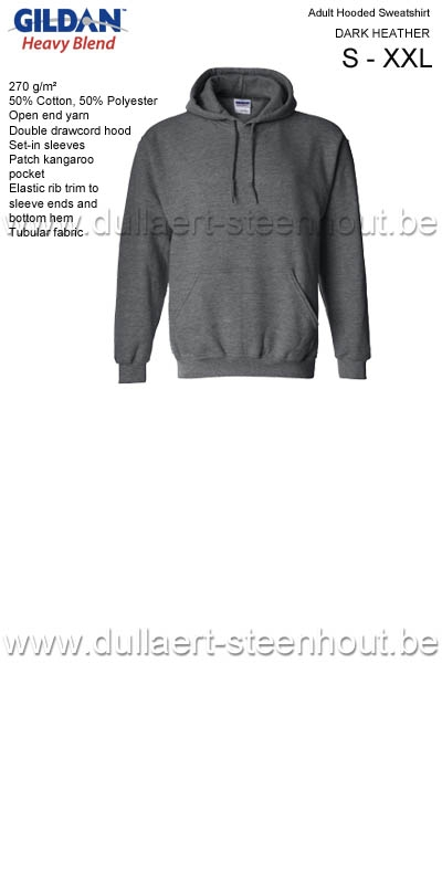 Sweat Hooded GILDAN 18500 Gris foncé